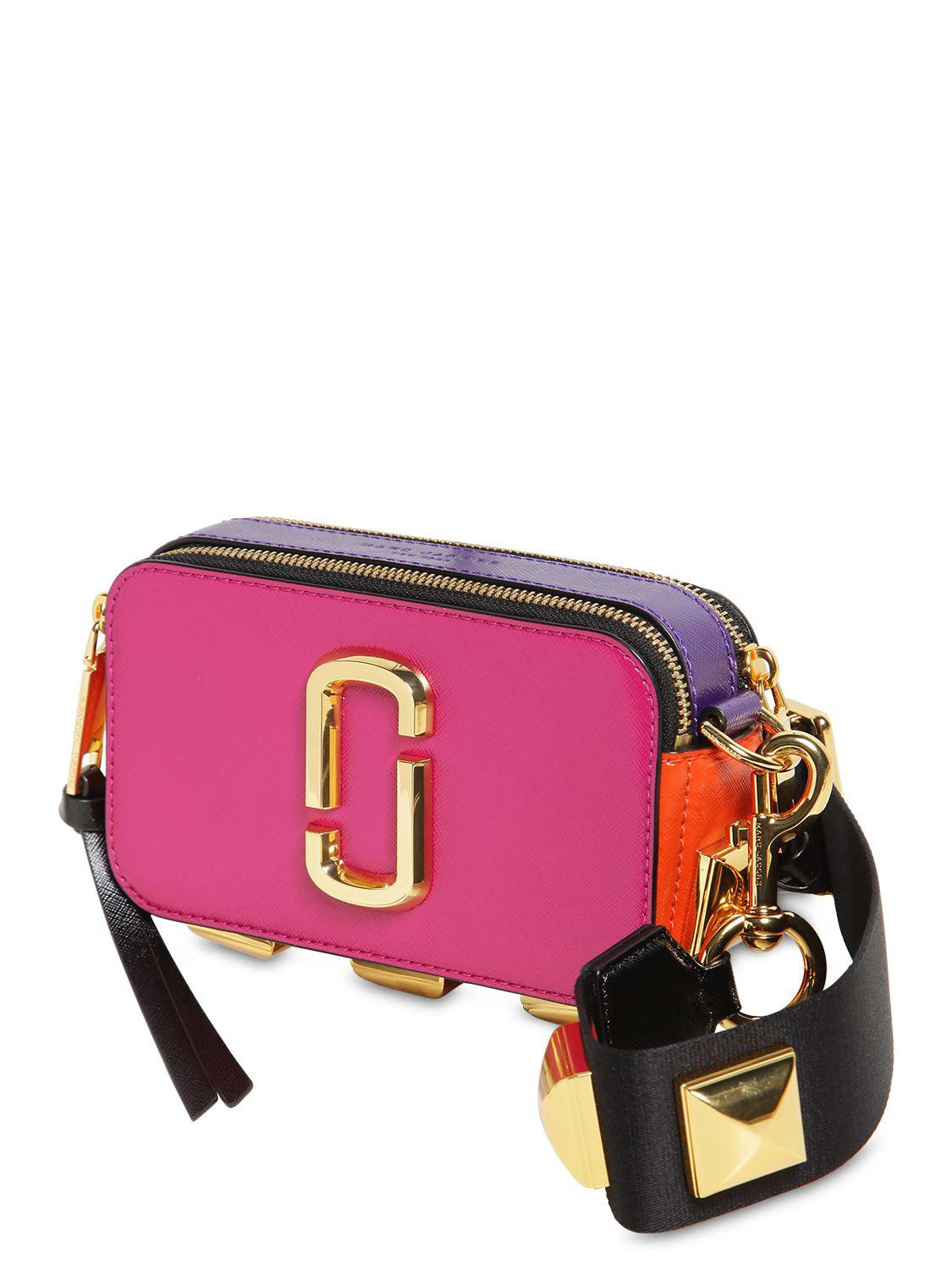 814a7cc3a4 Marc Jacobs Snapshot Studs Camera Bag In Multicolor Magenta ...