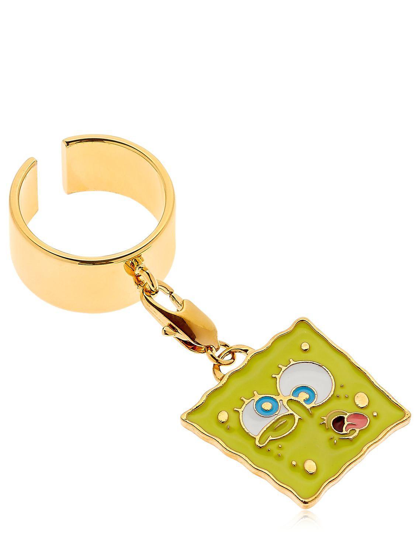 Maria Francesca Pepe Spongebob Ring in Gold/Yellow (Metallic)