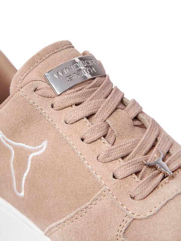 Windsor Smith 50mm Racer Suede Sneakers in Beige (Natural)