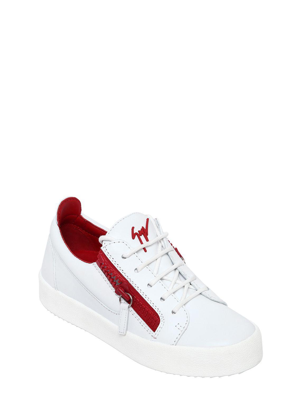 Two Tone Sneakers in White Leather Giuseppe Zanotti 9jMuzT