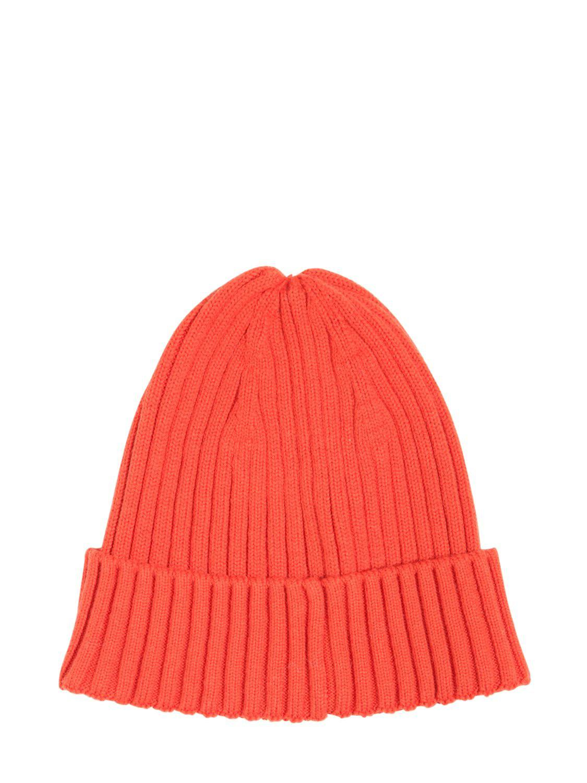 Lyst - DIESEL Logo Wool   Cotton Knit Beanie Hat in Orange for Men ... 155abcf98ea