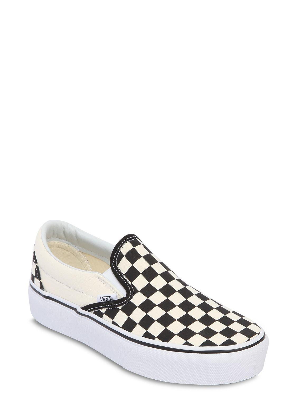Vans Canvas Classic Slip-on Platform Sneakers
