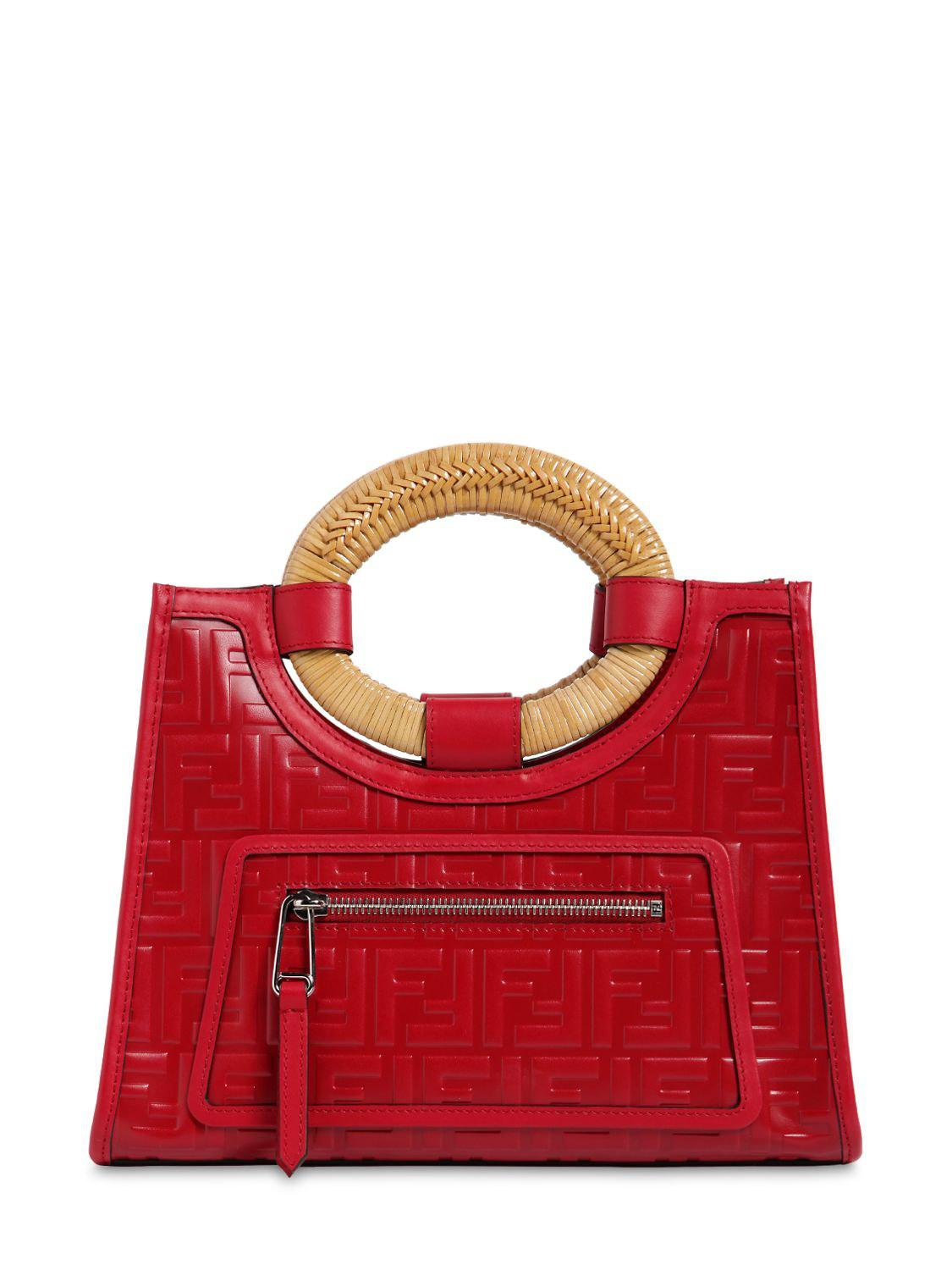 Lyst - Fendi Small Runaway Tote Bag in Red 930674a285191