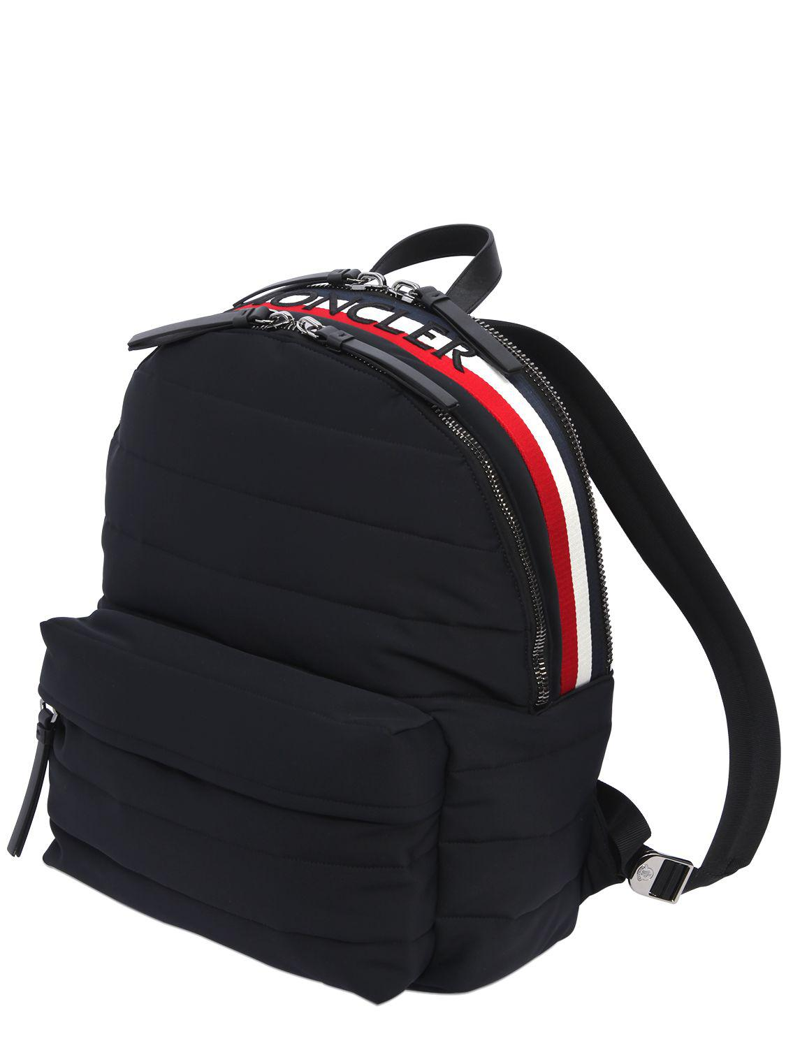 Moncler Synthetic Fugi Quilted Nylon Backpack in Black