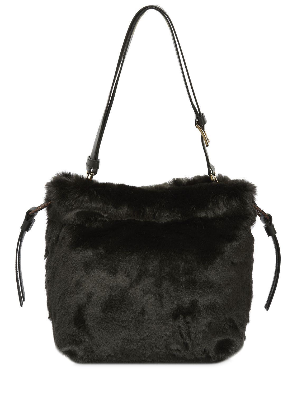 Lyst - Furla Cao Caos Faux Fur Bucket Bag in Black 1aa8aa6b5aace