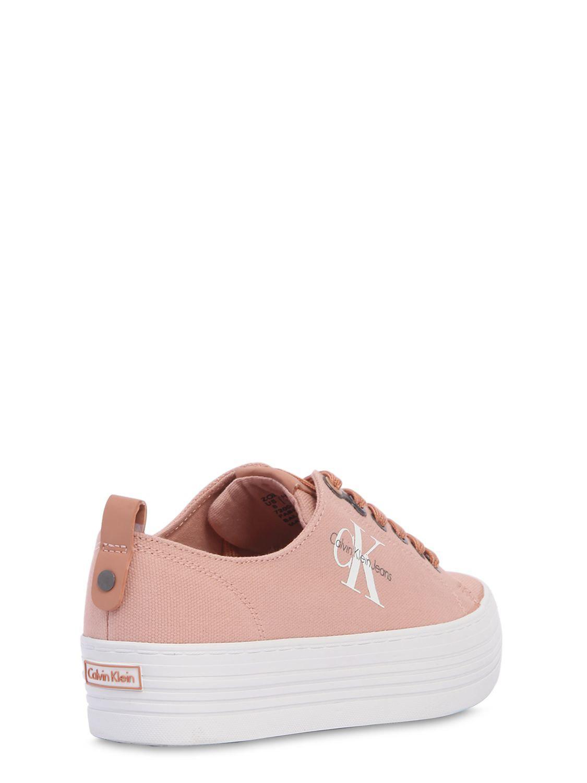 40Mm Zolah Canvas Platform Sneakers Calvin Klein Pink Sneakers Shoes