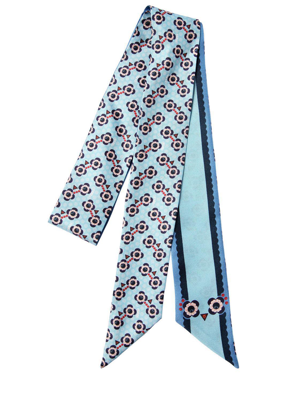 logo splash print wrappy scarf - Green Fendi 3W3igKnGWF