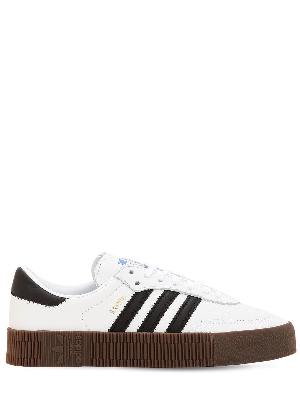 650d2b098325 Lyst - adidas Originals Samba Rose Bold Platform Sneakers in White ...