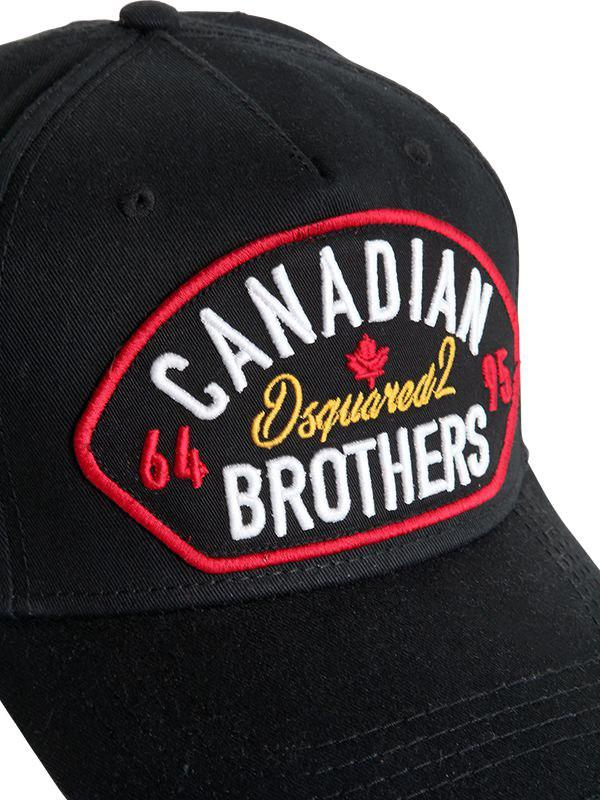 DSquared² - Black Canadian Brothers Patch Baseball Hat for Men - Lyst. View  fullscreen 8340e391775d