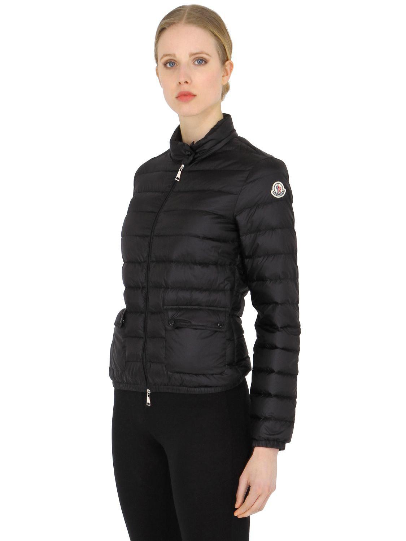 52d7af88d Moncler Black Lans Longue Saison Nylon Down Jacket