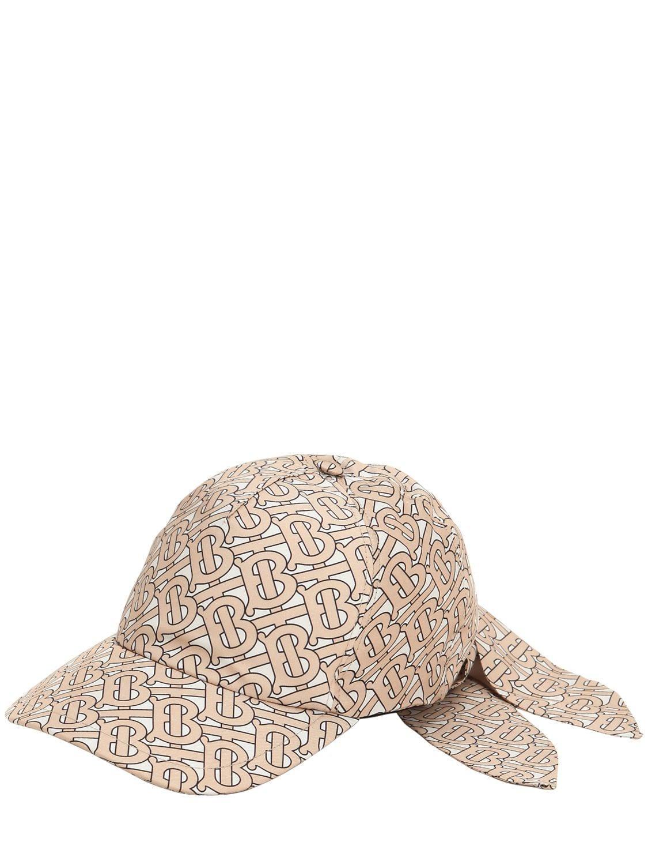 21a4b22471bb9 Burberry Tb Monogram Print Silk Baseball Hat in Natural - Lyst