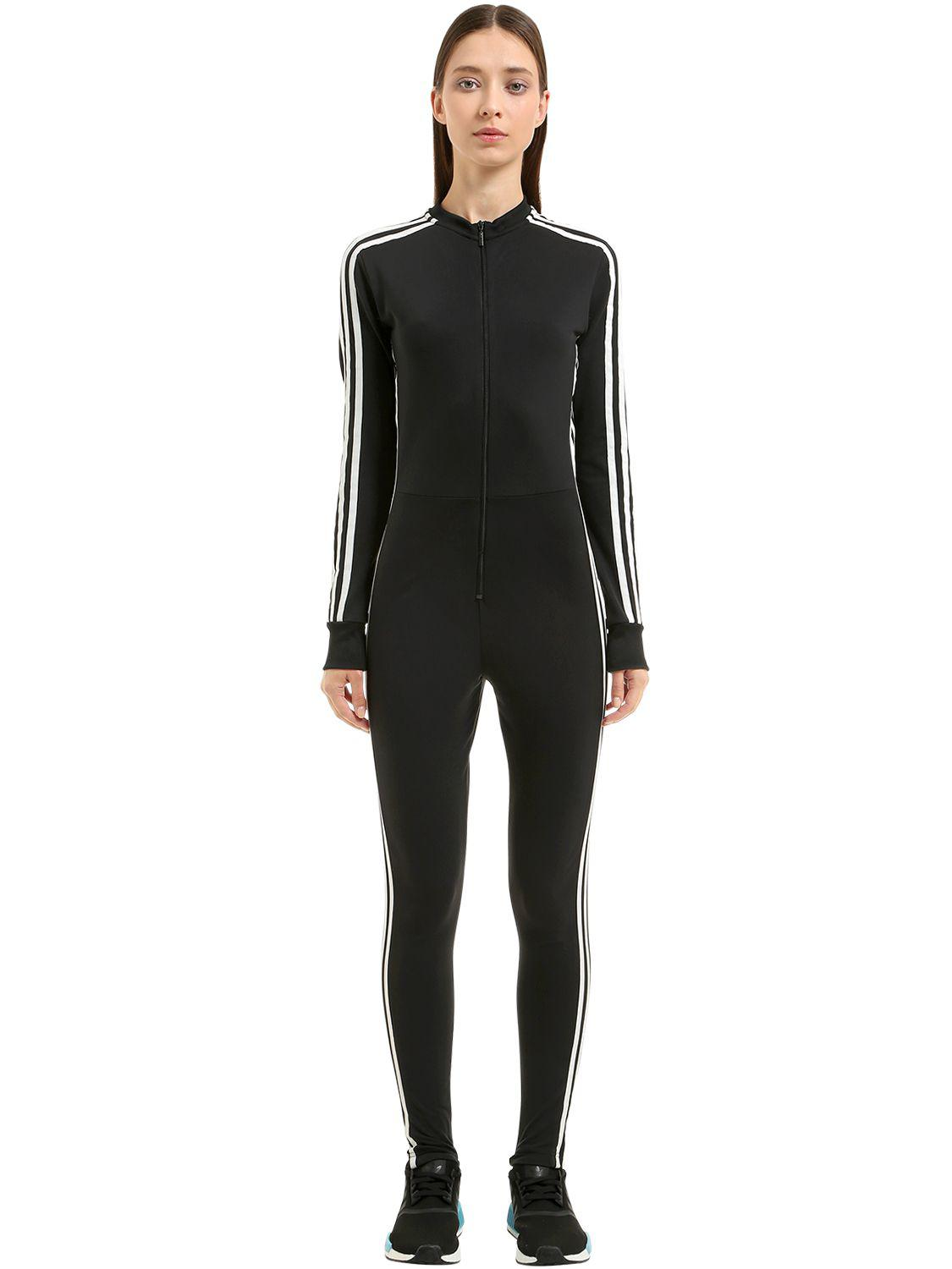 Lyst Adidas Originals Stage 3 Stripes Tricot Jumpsuit In