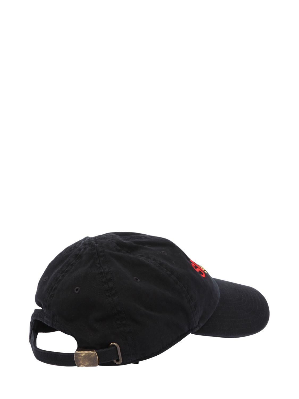 Lyst Balenciaga Sinners Embroidered Cotton Gabardine Hat