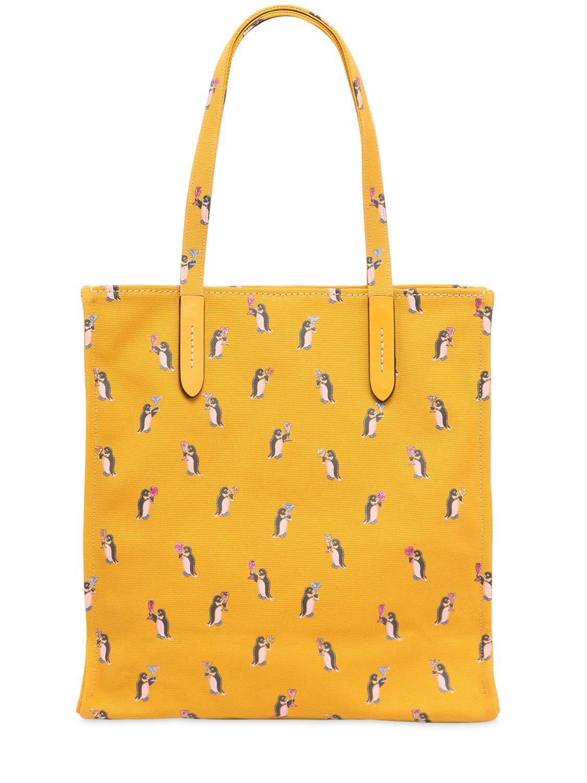 COACH Borsa Tote 'penguin' in Yellow & Orange (Yellow)