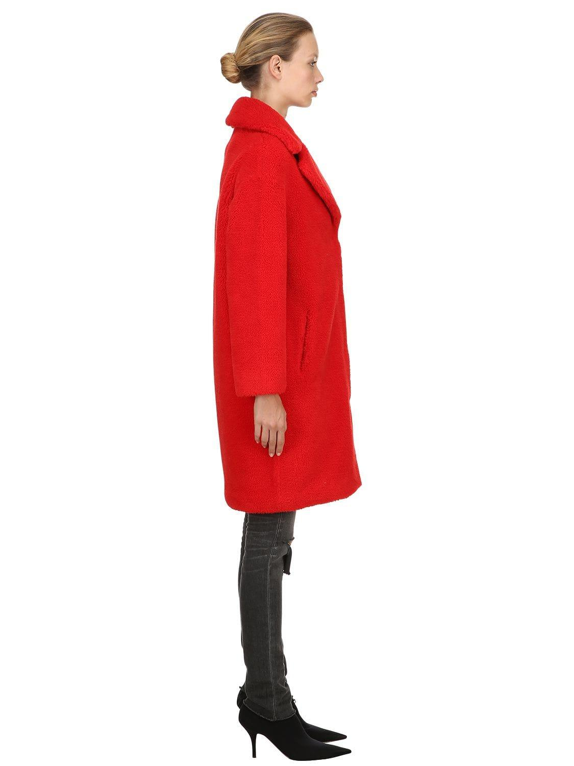 eebf808f9184 STAND Camille Cocoon Faux Fur Coat in Red - Lyst