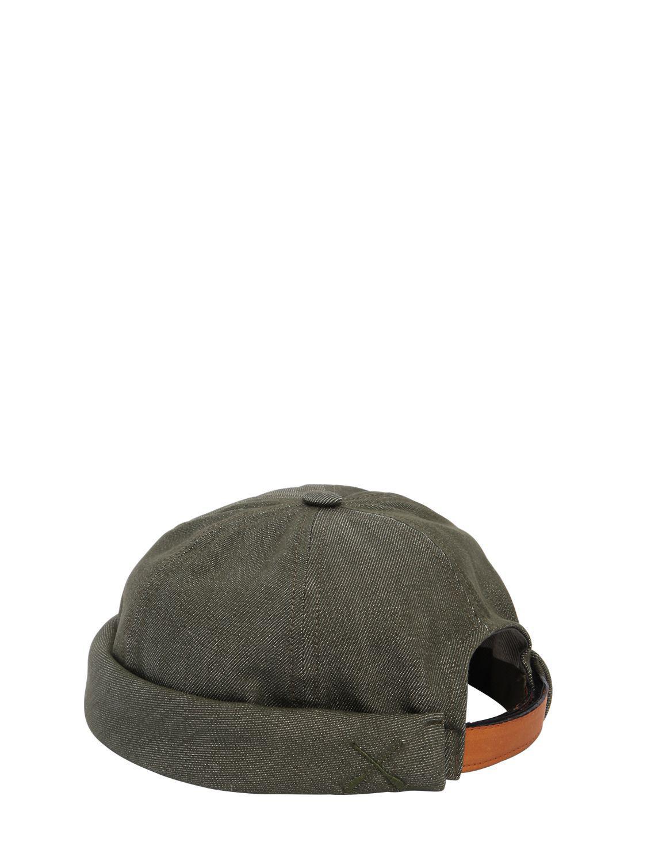 675ec9d69eb Lyst - Beton Cire Handmade Washed Cotton Denim Sailor Hat in Green ...