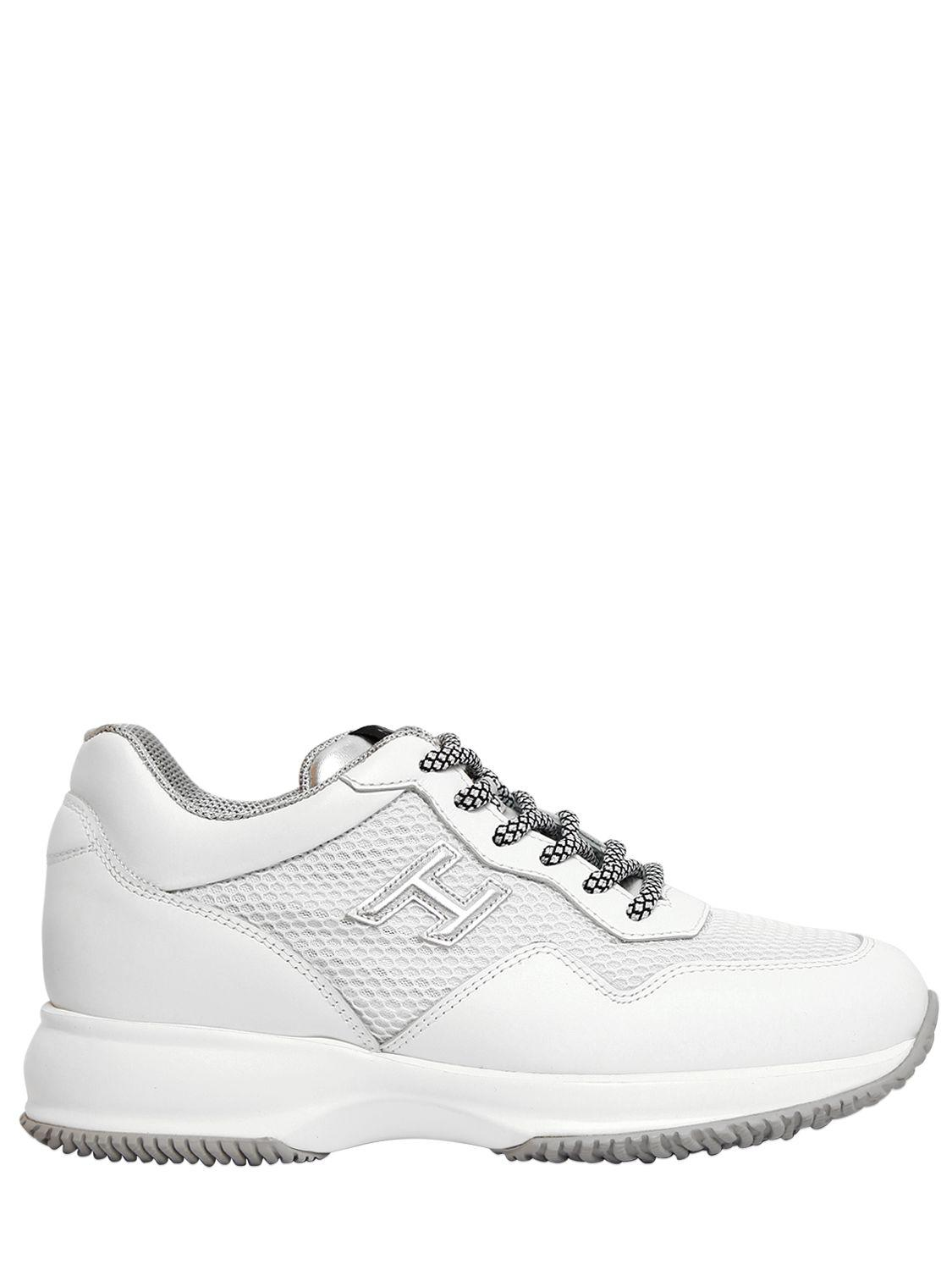 Hogan 60MM INTERACTIVE LEATHER & NET SNEAKERS XnICVJ