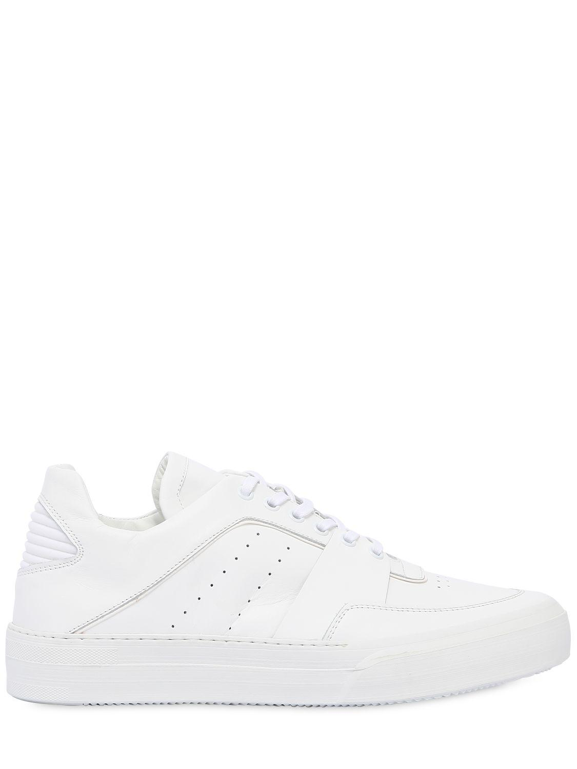 Bikkembergs ARENA PLATFORM LEATHER SNEAKERS
