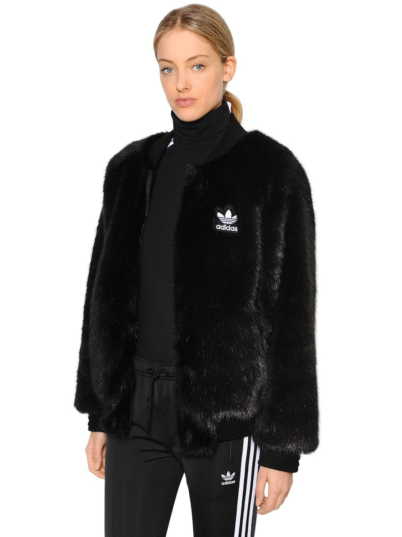 adidas fur jacke