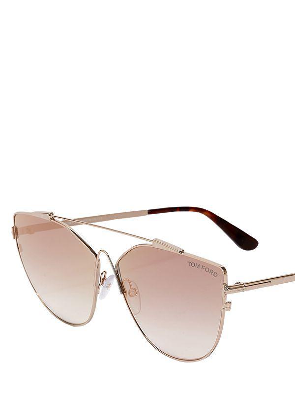 7f238f159c ... Metallic Jacquelyne Cat-eye Sunglasses - Lyst. View fullscreen