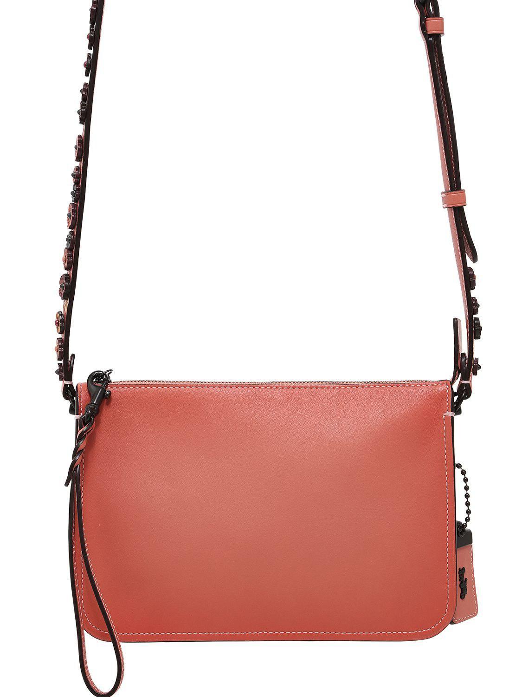 16b33fda COACH Pink Soho Tea Rose Detail Leather Bag