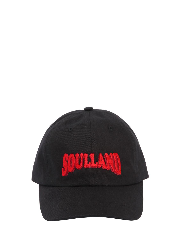 Soulland - Black Gorra Con Logo Bordado - Lyst. Ver en pantalla completa 3cb09b99f8a