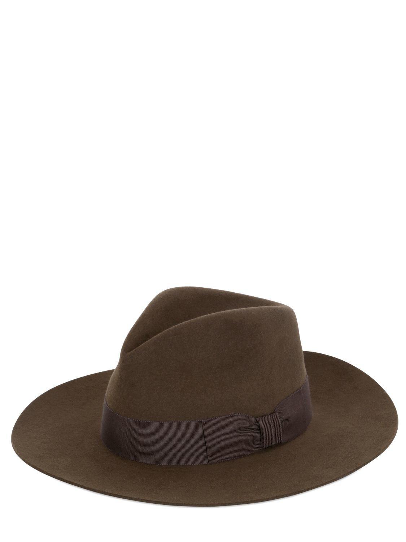 92966cd14fb Saint Laurent. Women s Lapin Fur Felt Wide Brimmed Hat