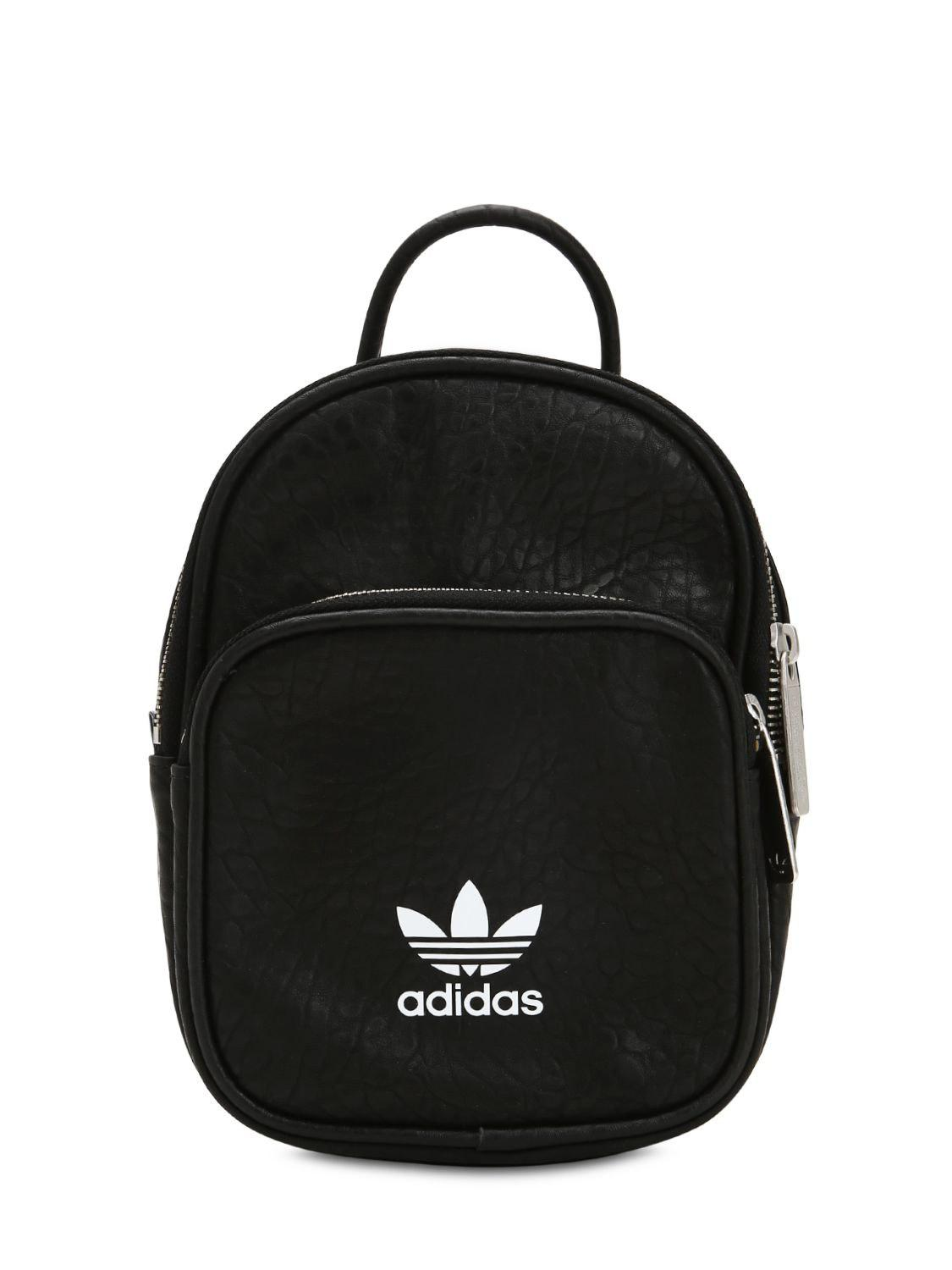 0e51819ce97 adidas Originals Leather Look Mini Backpack In Black in Black - Save ...