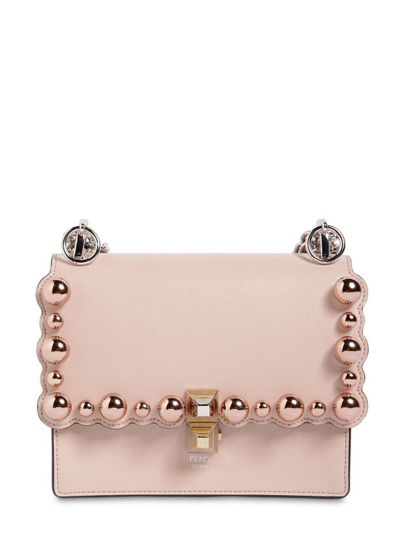 Fendi - Pink Small Kan I Scalloped Beads Leather Bag - Lyst. View fullscreen 2590d4d495f10