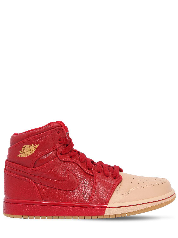 862958d8e208 Nike Air Jordan 1 Retro Premium Sneakers in Red for Men - Lyst