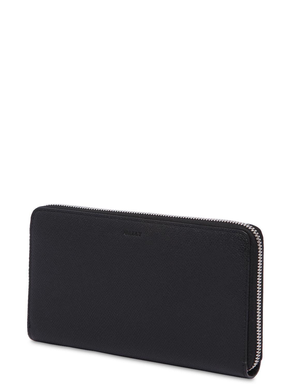 ecd68cf3eea Bally - Black Saffiano Leather Zip Around Wallet for Men - Lyst. View  fullscreen