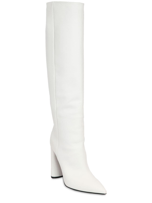 Botas De Piel Altas 100Mm Casadei de Cuero de color Blanco