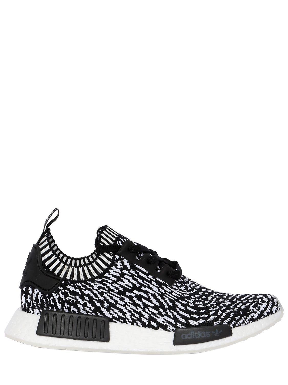 5d0d1f0a2cfa4e adidas Originals Nmd R1 Primeknit Sneakers in Black for Men - Lyst