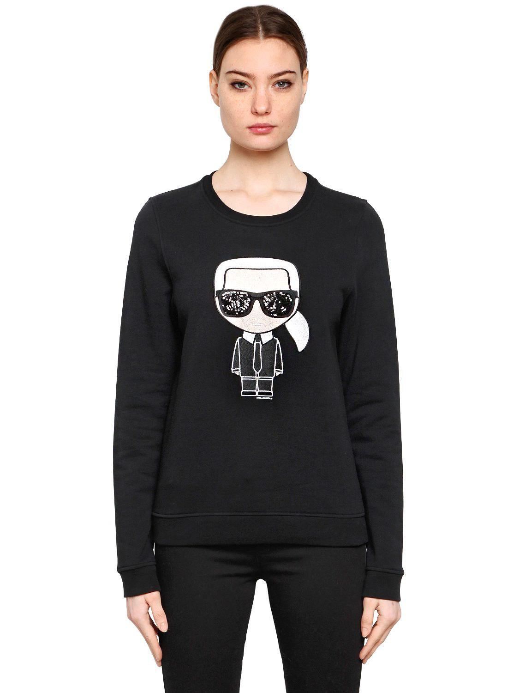 Karl ikonik sweatshirt Karl Lagerfeld Supply Cheap Price D8ag162K8