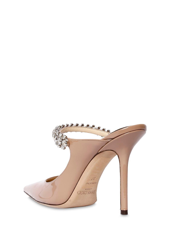 """Zapatos Mules """"Bing"""" De Charol Con Cristales 100Mm Jimmy Choo de Cuero de color Neutro"""