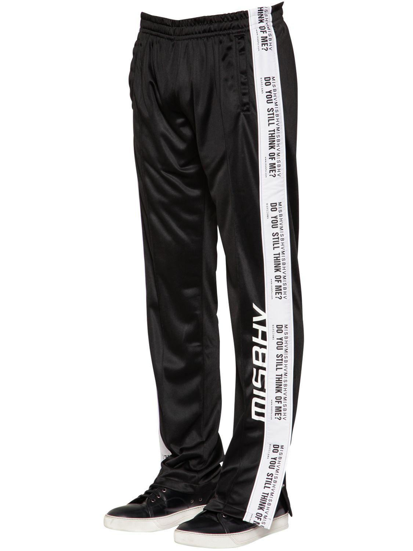 MISBHV. Men's Black Do You Still Nylon Track Pants