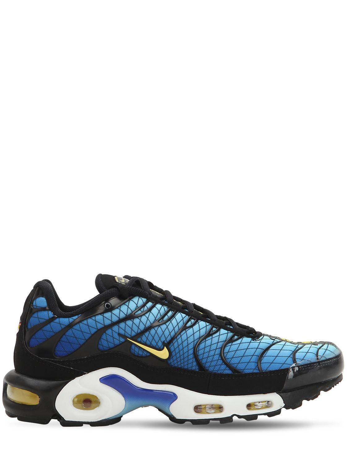Nike Synthetic Air Max Plus Tn Se Sneakers in Black/Blue (Blue) for ...