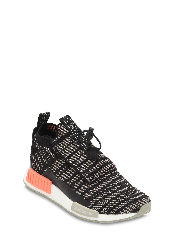 d3b89db46f5353 Adidas Originals - Black Nmd Ts1 Primeknit Sneakers for Men - Lyst. View  fullscreen