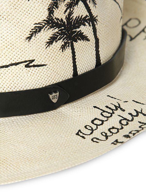 1f1591a1f2c Htc Hollywood Trading Company Hand Painted Graffiti Straw Hat in ...
