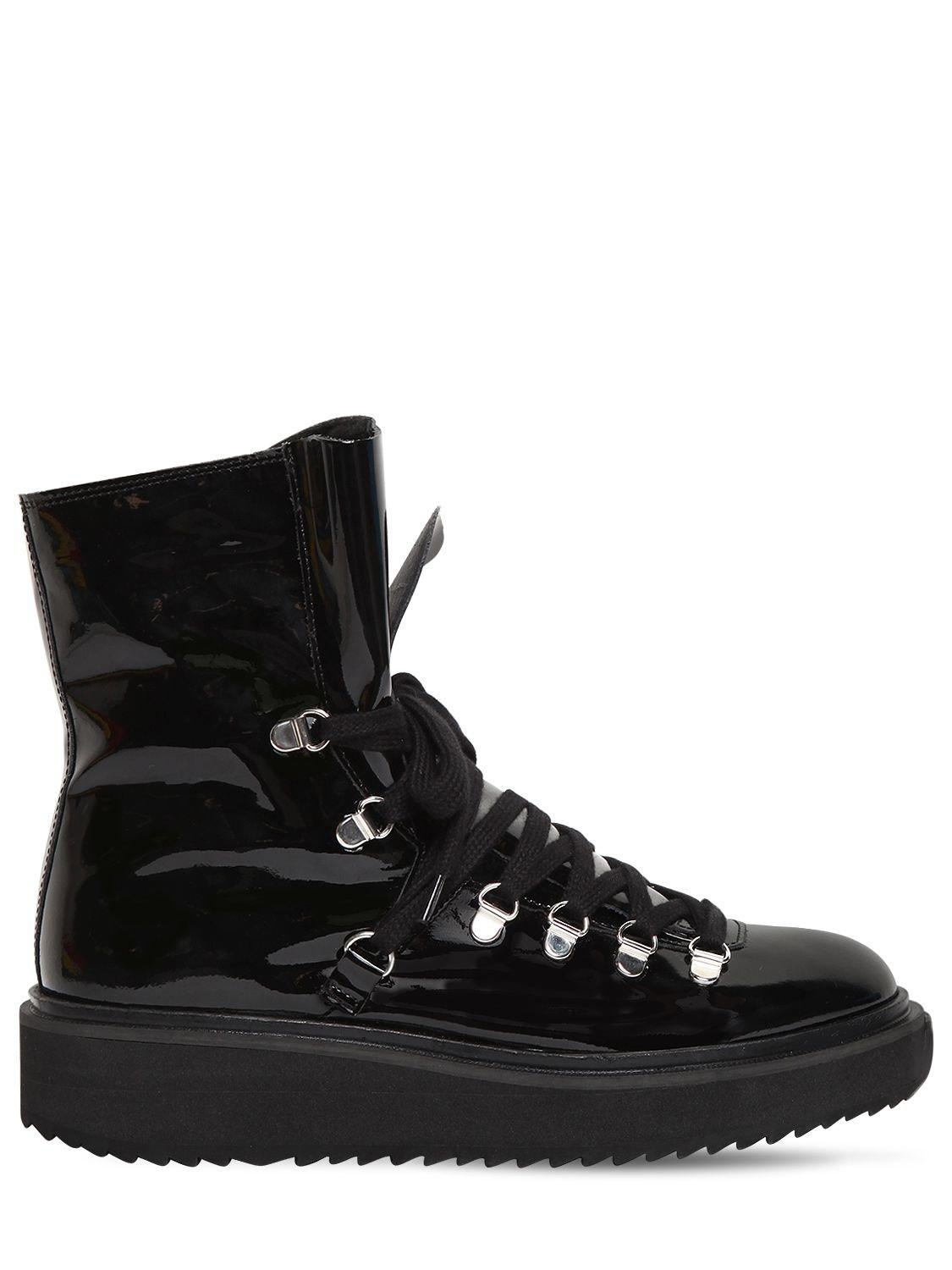Kenzo 40MM PATENT LEATHER & SHEARLING BOOTS 2018 Unisex Sale Online Largest Supplier Sale Online Clearance Low Shipping In China For Sale Wurc7