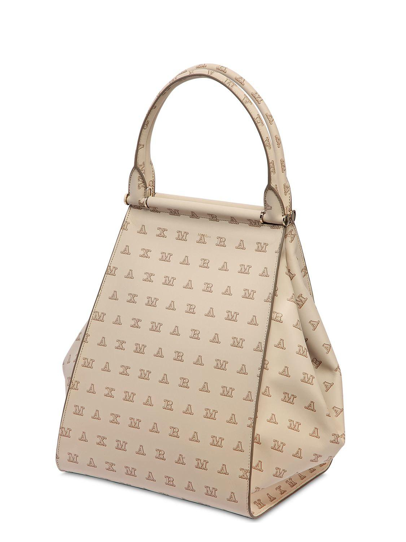 pas mal 87f96 72507 Max Mara Natural Maxi Sac Leather Tote Bag