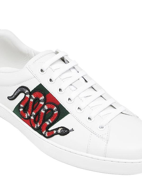 Gucci Snake Ace Embroidered Leather