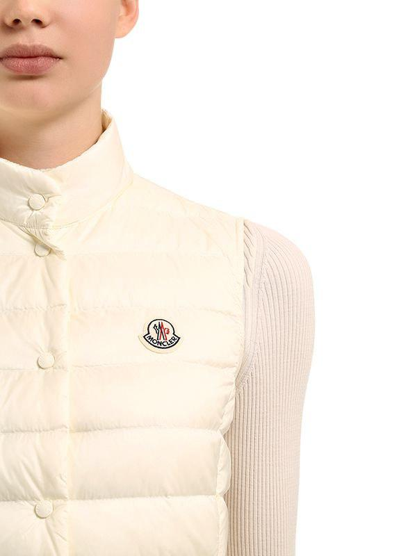 5cd5c194b Lyst - Moncler Liane Quilted Nylon Down Vest in White - Save 32%