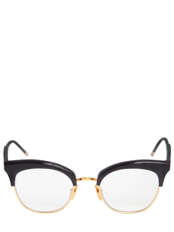 5f7bae92a8 Lyst - Thom Browne Acetate Cat-eye Optical Glasses in Blue