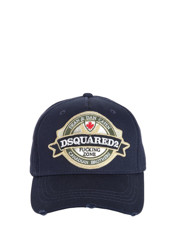 736ce448c6e Lyst - Casquette En Coton Avec Patch Logo DSquared² pour homme en ...