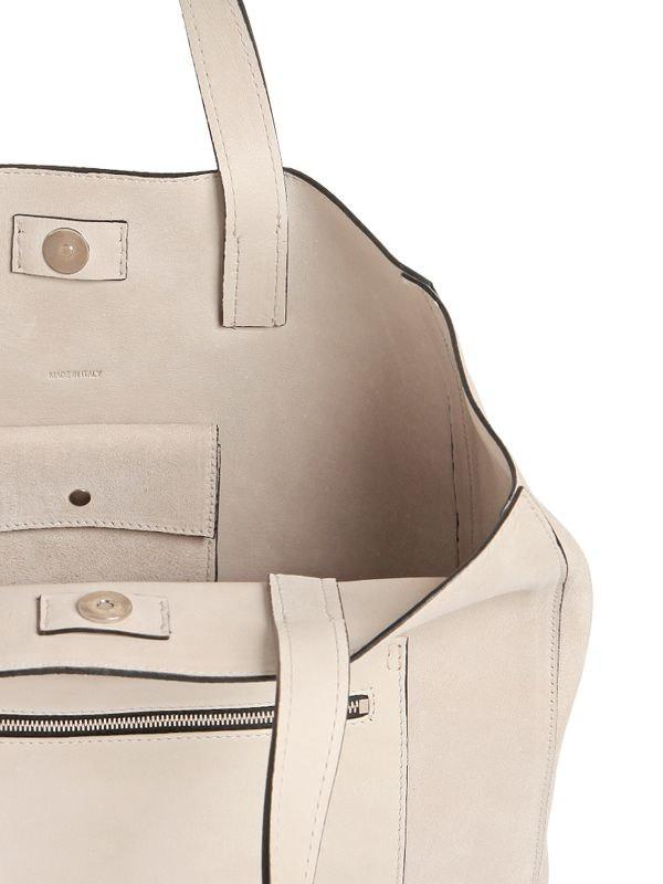 Calvin Klein SUEDE TOTE BAG WITH LEATHER POCKET R4xEqgqu7w