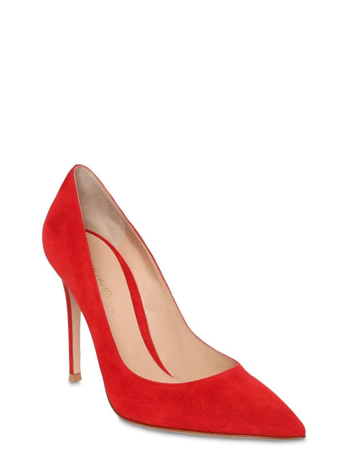 "Zapatos Pumps ""Gianvito"" De Ante Gianvito Rossi de color Rojo"
