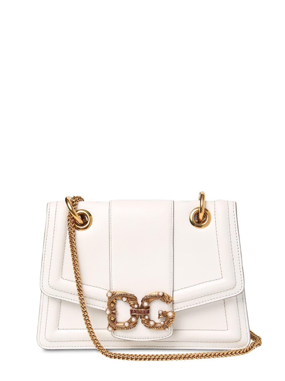 Lyst - Dolce   Gabbana Dg Amore Nappa Leather Bag in White ca14fdf42e