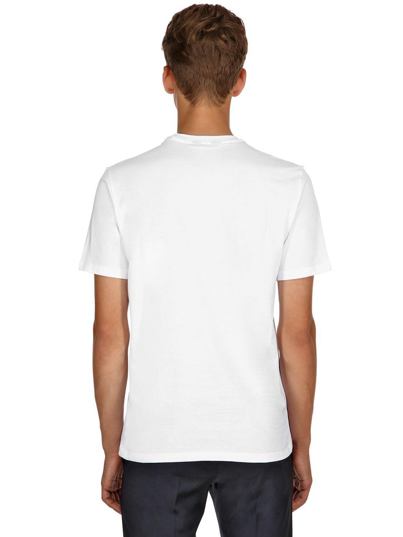 1d2feb8e Ermenegildo Zegna Xxx Cotton Jersey T-shirt in White for Men - Lyst