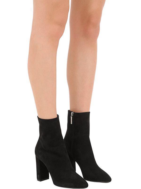 Saint Laurent 95mm Lou Suede Ankle